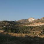 Naxos: nabij de liggende beelden van Kouros