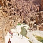 De grand canyon van Jordanië oftewel de majestueuze Wadi Mujib.
