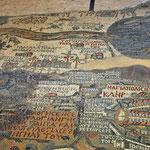 Mozaïek plattegrond van het toenmalige Heilige land