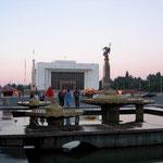 Centrale plein in de hoofdstad Bishkek