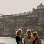 Zicht op de Pont Luiz I