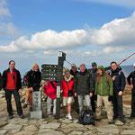 Op te top van Birobong. De hoogste top in Sobaeksan (1439m)