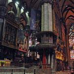 Binnenin de Dom van Milaan