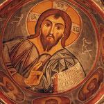 Prachtig beschilderde muren van ondergrondse (verboden) kerken)