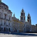 Het paleis van Mafra met het Franciskanenklosster