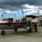 Vliegtuigje dat ons naar Bario bracht