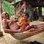 Mong, stamvader van de familie van onze homestay in Battambang