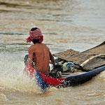 visser op het Tonlé Sap meer