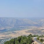 Zicht van op de site op de Golan Hoogvlakte.