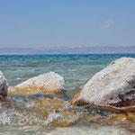 Zoutkristallen van de Dode Zee (ingang Amman Beach)