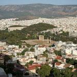 Zicht op Athene vanop de Acropolis
