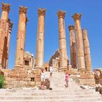 De tempel van Zeus met de Korintische zuilen