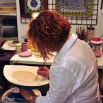 Keramiek schilderen in Deruta