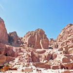 de binnenstad van Petra