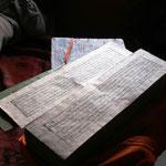 Oude boeddhistische geschriften (+- 500 jaar oud)