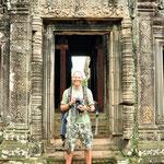 Raar volk soms in Angkor