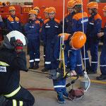 Übung mit den Hydraulischen Rettungsgeräten