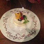 ステキなケーキでお祝いしてもらったり