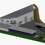 Entwurf Gewerbegebäude Waldkirch