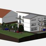 Entwurf Büro -und Wohngebäude Simonswald