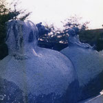 愛知県一宮市 天神公園 -子供と牛-