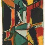 Wolfgang Leber, Cor' Art' Oricum, Farbzinkographie 1982, 23,0 x 15,0