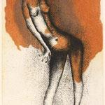 Norigo Ogawa, Kontrapost, Farbaquatinta,1995, 57-120, 20,5 x 13,0 cm