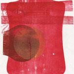 Michael Arantes MŸller, Das Mondauge, Farbh olzschnitt, 2006, 21-25, 44,0 x 29,8 cm