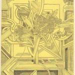 Helmut Zielke, o.T., Radierung, 1989, III-X, 25,5 x 19,7 cm