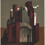 Manfred Kastner, Stadt, Farboffsetlithographie, 1986, 165-200, 33,3 x 27,0 cm