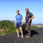 Mit Kristina in 1700m Höhe auf dem Estrecho
