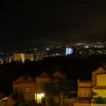 Abendstimmung mit Puerto de la Cruz im Hintergrund