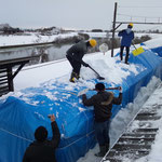 月潟駅の冬(2)(2012年2月の大雪)
