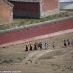 Procession autour du monastère
