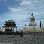 Le temple de Gandan Khiid abrite un grand bouddha debout