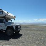 Vue sur le lac Khar us nuur