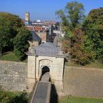 Les Remparts et la Porte de France à Longwy-Haut (Meurthe-&-Moselle)