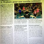 Article annonçant la Zumba Solidaire du 17 mars 2018
