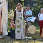 Begrüßung durch die Kindergartenleitung Katrin Brandt