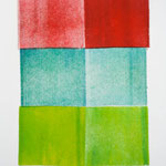 Farbstudie, Monotypie auf Papier, 30cm x 21cm