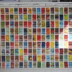 Atelieransicht: Monotypie auf Papier, 90cm x 148cm