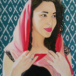 Jamila 40x50 cm oil and acrylic on canvas
