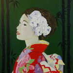 Bamboo. 40x50 cm acrylic on canvas. Sold!