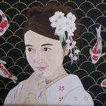 Koi. 40x50 cm acrylic on canvas. Sold!