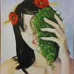 Demetra, portatrice di stagioni . 40x50 cm olio su tela
