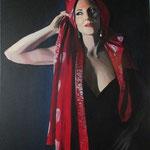 Greta 65x90 cm acrilico su tela -Venduto
