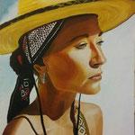 la donna sole 40x50 cm acrilico su tela