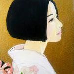 Rose. 40x50 cm olio e acrilico su tela. Sold