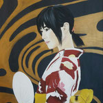Il ventaglio bianco. 40x50 cm acrylic on canvas. Sold!