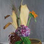 Ikebana. 50x70 cm oil on canvas